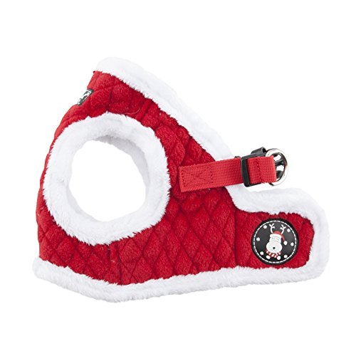 Puppia Blitzen Harness-B for Pets, Red, X-Large