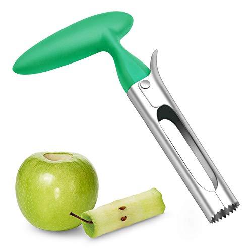 Asdirne Descorazonador de manzana, hoja de acero inoxidable de grado alimentario, mango ergonómico resistente, fácil de usar, afilado y duradero, para eliminar los núcleos de...