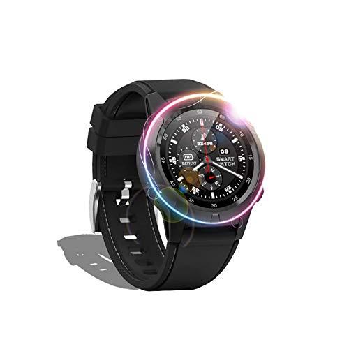 MEETGG Reloj inteligente GPS, rastreador de fitness, seguimiento de actividad, reloj de ejercicio con alerta de control de música, monitor de sueño, pulsera impermeable con pantalla táctil
