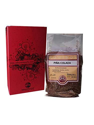 SABOREATE Y CAFE THE FLAVOUR SHOP Té Rooibos Piña Colada En Hoja Hebra A Granel Infusión Natural Isotónica Adelgazante 100 gr