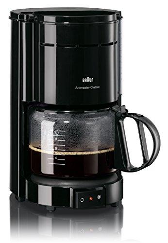 Braun Kaffeemaschine KF 47 BK - Filterkaffeemaschine mit Glaskanne für klassischen Filterkaffee, Aromatischer Kaffee dank OptiBrew-System, Tropfstopp, Abschaltautomatik, schwarz