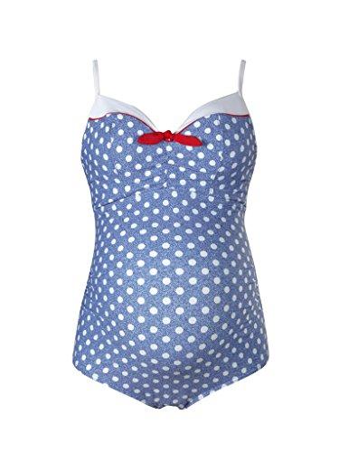 Cache Coeur Marilyn Bañador premamá, Azul (Denim), 44 (Talla del Fabricante: 38 C/D) para Mujer