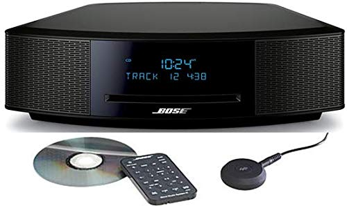 Bose Wave Music System IV, CD/MP3 CD Player, Advanced AM/FM Tuner, Dual Alarm, Remote Control (Battery Pre-Installed), 2.4m AC Power Cable, 4.5' Inches Tall, Espresso Black, Spmor HDMI Cable