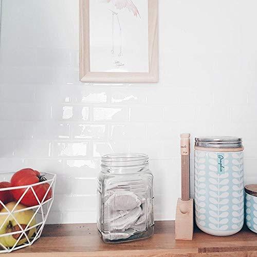 Vinilo decorativo para azulejos grueso y resistente al desgaste,12 * 12 pulgadas autoadhesivas Peel and Stick Subway Efecto 3D Azulejos -10 hojas