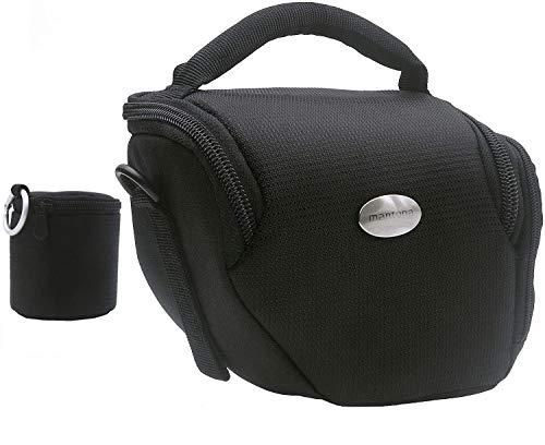 MANTONA VARIO DUO Formato M colore nero Borsa fotografica sistema compatto con tracolla e custodia lenti separata
