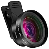 Hpory Phone Camera Lens 2 in 1 Mobile iPhone Camera Lens Kit 0.45X Wide Angle Lens + 15X Macro Lens for iPhone Samsung Smartphones and Most Phone