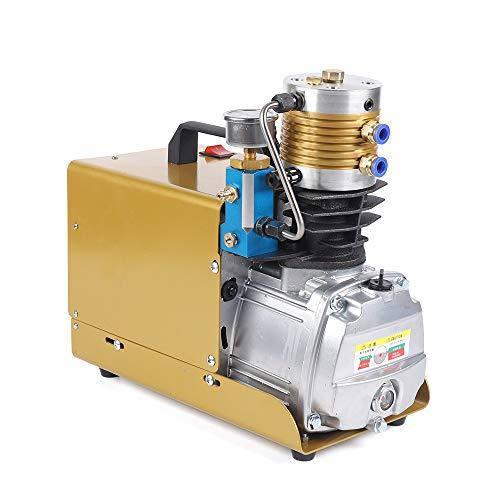 Compresor de aire de alta presión, bomba de 30 MPA, 300 bar, 4500 psi, separador externo de aceite y agua, ventilado, 0-6,8 l, bomba eléctrica de 220 V (mejorado y ampliado)