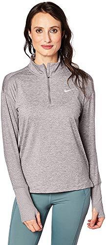 Nike Women's Element 1/2 Zip Running Top Gunsmoke/Atmosphere Grey Size Medium
