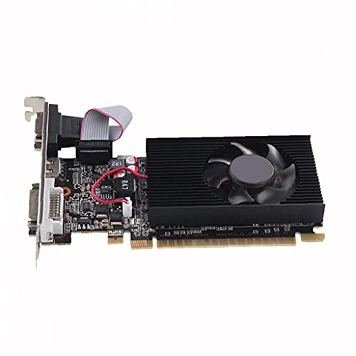 IGT730 Tarjeta de gráficos '2GB DDR3 600MHz bajo perfil bajo consumo VGA DVI-D HTPC silencioso Pascible PCB optimizado negro