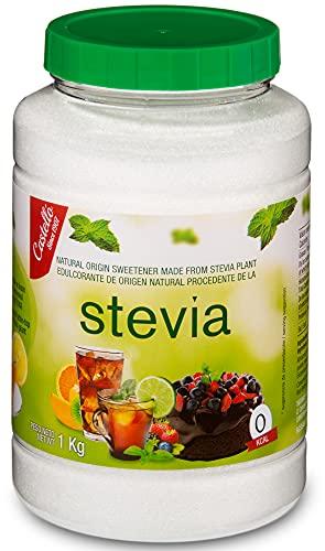 Dolcificante Stevia + Eritritolo 1:2 - Granulato - Sostituto dello zucchero 100% Naturale - Fatto in Spagna - Keto e Paleo - Castello since 1907 (1 g = 2 g di Zucchero (1:2), 1 kg)