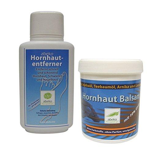 Hornhaut-Entferner + Hornhaut Balsam - abeko - 500 ml - Sparset