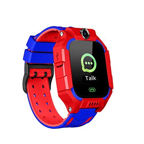 LOVSE Reloj inteligente para niños con reloj de pulsera impermeable con GPS Tracker llamada SOS antiperdida para regalo de niños