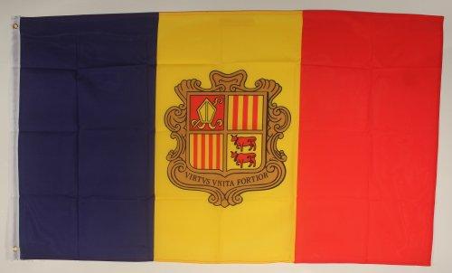 Buddel-Bini Flagge Fahne ca. 90x150 cm : Andorra Andorraflagge Nationalflagge Nationalfahne