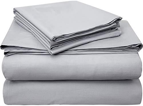 Classic Luxury USA Pima Cotton Percale 4 Piece Bed Sheet Set - 100%...