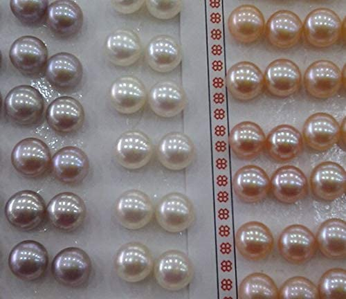 Natural Freshwater Max 68% OFF 8-9mm Loose Pearls Half Nice Drilled Jewell Super special price