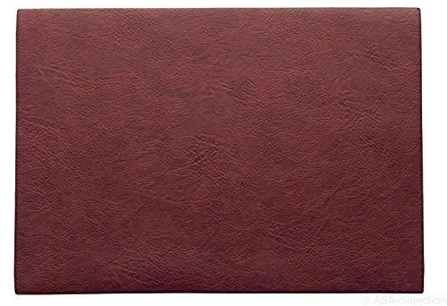 ASA 78301076 Set de table en PVC rosewood 46 x 33 cm Végan leather, en PU 78301076 ! Set de 2 x articles et 4 pailles en acier inoxydable EKM Living