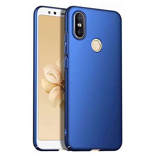Qsdd Reemplazo para Xiaomi Mi A2/Xiaomi 6X Funda Ultra Thin Anti Scratch Carcasa de Telefono PC Dura A Prueba de Golpes de Silicona Caso-Azul