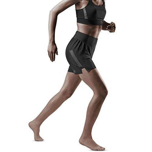 CEP – Run Loose FIT Shorts für Damen   Kurze Sporthose für maximale Bewegungsfeiheit in schwarz   Größe XS