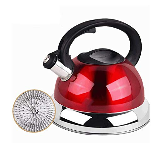 Kettle Tower Type Red Energy-saving 304 Stainless Steel Gas Gas Stove Home Whistle Quick Boil Water Bottle 4L Home Camping