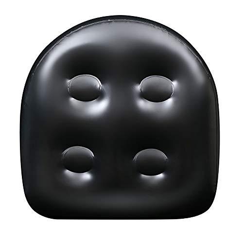 Etoilemer Spa- und Whirlpool-Sitzerhöhung mit Saugnapf, aufblasbares wasserdichtes Rückenpolster-Spa-Kissen, weiches Massagekissen, hochwertige Saugverstärkersitz-Badematte für Erwachsene Kinder