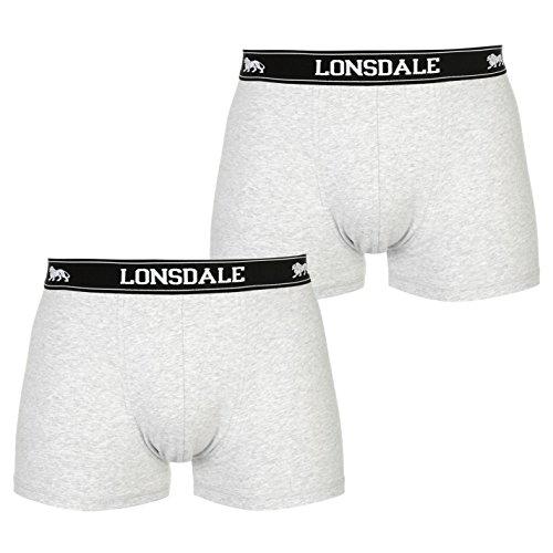 Lonsdale Herren 2 Stück Trunks Unterhose Grau XL