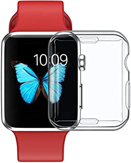 Silicone Soft Cover for Apple Watch series 4 44mm Case TPU Clear Ultra-Thin Screen Protective for iWatch All-around frame