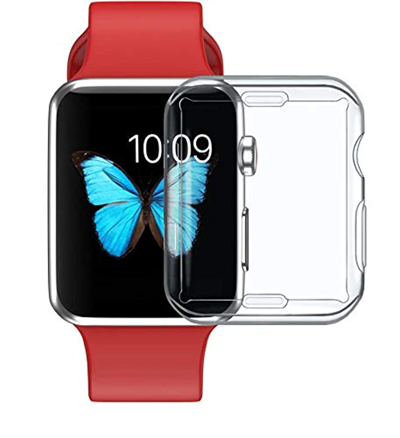 Case Compatible Apple Watch 2 3 case, Iwatch Screen Protector TPU All-Around Protective Case 0.5mm HD Clear Ultra-Thin Cover Compatible New Apple Watch Series 2 3(42mm …
