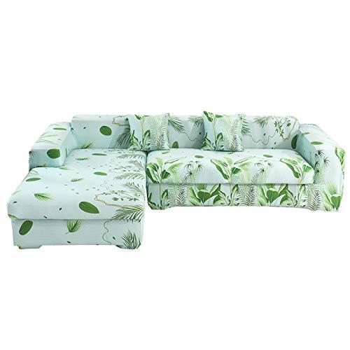 NOBCE Fundas elásticas Funda de sofá elástica seccional elástica para Sala de Estar Funda de sofá en Forma de L Funda de sillón 235-300CM