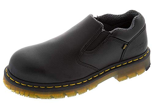 Dr. Martens Mens Dunston Sd St Slip On Shoe, Size: 8 D(M) US / 7 F(M) UK, Color: Black Industrial Full Grain