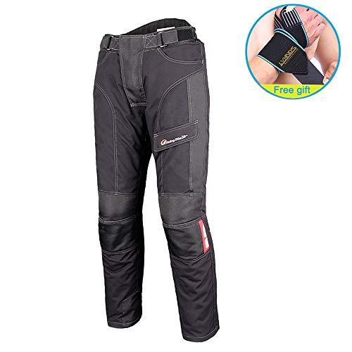 LVNRIDS - Pantalones blindados para motocicleta, para invierno, con protección impermeable y forro térmico desmontable