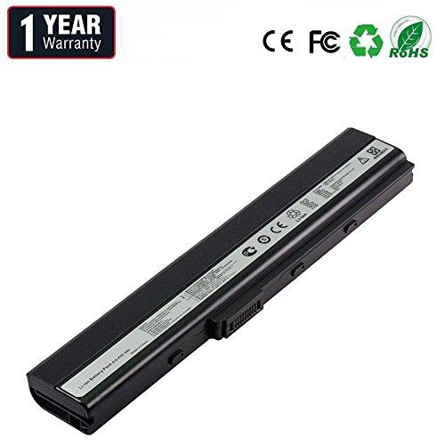 BYDT Standard Serie A32-K52 A31-K52 A42-K52 A31-B53 Batteria para ASUS A52F A52J A52N B53 K42 K52 K52DR K52J K52JK K62 X52 X52D X52F X62 Ordenador (6 Celdas 4400mAh 10.8V Negro)