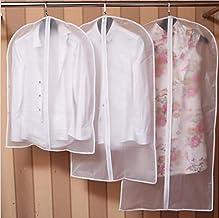 Clothes Covers Wardrobe Storage Bags Dustproof Covers Home Zipper Transparent Dress Clothes Coat Garment Suit Cover Case,6...