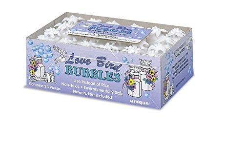 Love Bird Wedding Bubble Bottle Favors, 24ct