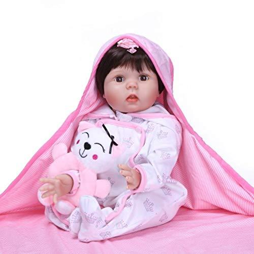 Antboat 55 cm 22 Pulgadas Muñeca Reborn Vinilo de Silicona Suave Reborn Muñecas Bebé Recién Nacido Hecho a Mano Regalo de Juguete Muñecos Bebé