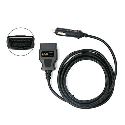 AUTOOL BT50 coche OBD2 ECU emergencia más ligero poder cigarrillo batería del cable de la herramienta