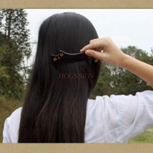 Peigne en corne Peigne naturel authentique Peigne naturel Corne Noire Eau Combs non-approvisionnements en bois Mignon Massage coiffeur for femmes cadeau brosse à cheveux Hairdressing Supplies Pour le