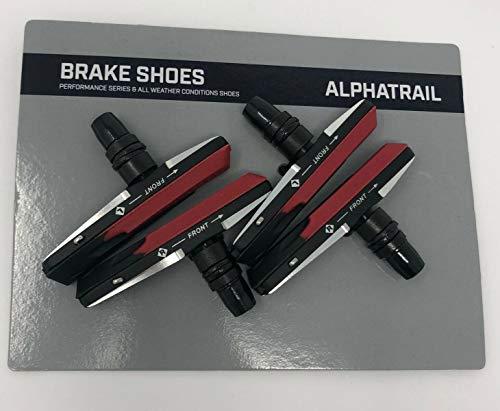 Alphatrail 4X Fahrrad Bremsbeläge Felgenbremse V-Brake 72mm Rennrad Für Shimano, Tektro, Avis XLC, SRAM, Promax