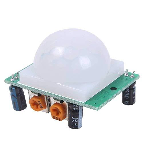 U/K nützlichHC-SR501 Menschliches Sensormodul Pyroelektrisches Infrarot-PIR-Bewegungsmeldermodul für Mikrocontroller Elektronische Projekte 1 Stck