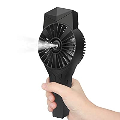 Dr. Prepare Handheld Misting Fan, Portable Mini Mist Fan, Personal Hand Held Mister Fan with Water Spray, 3 Speed Settings, 2200mAh Battery for Outdoor Cooling, Beach, Travel, Park