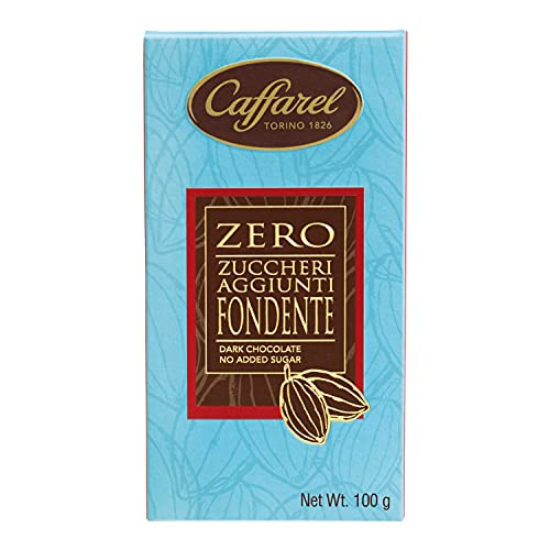 Caffarel Tavoletta Senza Zucchero, Cioccolato Fondente, 100 Grammo