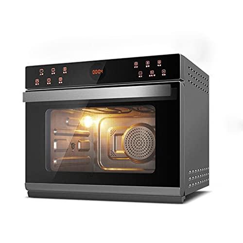 HXXXIN Horno de Vapor, función de menú múltiple para el hogar, Escritorio para cocinar al Vapor y freír, Horno eléctrico de Aire Todo en uno