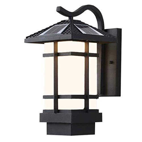 TJLSS Luz Solar al Aire Libre de la Pared - al Aire Libre Luz Solar de la Pared con el Interruptor de Palanca con la Pared de luz controlada-luz de la inducción
