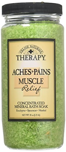Village Naturals Therapy Aches and Pains Concentrated Bath Soak Salts (Muscle Relief)