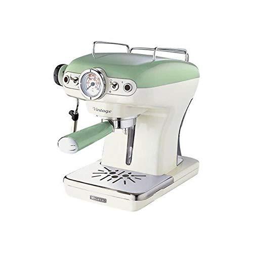 Ariete 1389 Caffè Espresso Vintage - Macchina per caffè Espresso per polvere o cialda ESE, in colore Verde pastello