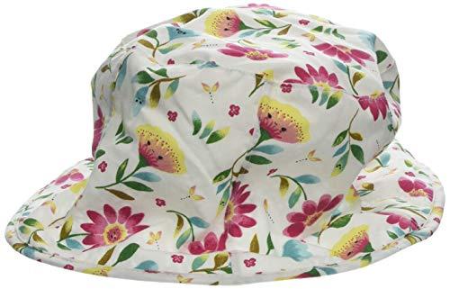 maximo Mädchen Hut, Reversible Mütze, Mehrfarbig (DarkPink-Grün-Gelb-Blumen 37), 51