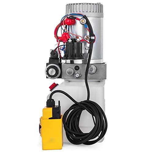 OldFe 12V Einzelmagnet Doppelwirkend Hydraulische Pumpe 4.5L Hydraulikaggregat ZZ004232 Single Solenoid Double Acting Hydraulic Pump