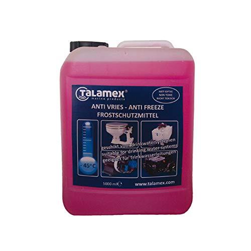 Talamex Frostschutzmittel Gefrierschutz für Trinkwassersysteme, Kühlwassersysteme und Motorensysteme auf Booten - 5l/10l/20l (5 Liter)