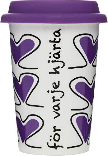Sagaform Tasse mit Herzmotiv zum Mitnehmen