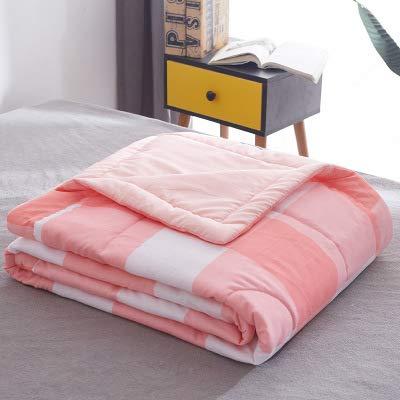 SDJYH Sommer Klimaanlage Quilt weiche atmungsaktive Decke dünn gestreifte Plaid Quilt