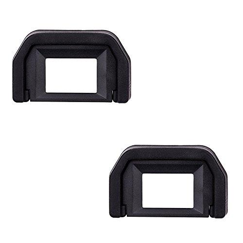 JJC Visor Ocular Eyecup para Canon EOS 77D, 800D, 760D, 750D, 700D, 650D, 600D, 550D, 500D, 450D, 400D, 350D, 300D, 200D, 100D, 1100D, 1200D Cámaras Reemplazo de Canon Ef. Eyepiece (Lote de 2)